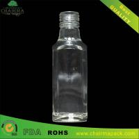 Best 188ml Blown Square Glass Bottle for Gin wholesale