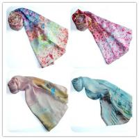 China High Quality Classical Design   Hijab Woven Silk Scarf Twill on sale