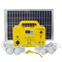 Best 20Ah battery Solar Energy Systems Solar Power Kits with MP3 FM radio function load DC Fan TV wholesale