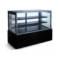 China Marble Base Refrigerated Bakery Display Case With LED Lights For Pastry And Cafe on sale