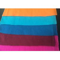 Best Plain Style Merino Wool Fabric Melton Cloth Fabric For Suit , Orange Blue Red wholesale