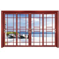 China Commercial Double Glazed Aluminium Sliding Door External Grill Design on sale