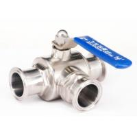 China 2 Inch 3 Stainless Steel Ball Valve L Type With Clamp / Weld / Thread Connection on sale