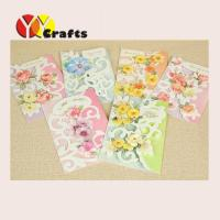 Cheap Colorful floral birthday cards with flowers , Marriage Greeting Cards for sale