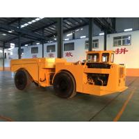Best 15 Ton Dump Truck Trailer With Wheels , Orange Mining Dump Truck wholesale