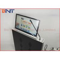Best Slim Conference Tabletop LCD / LED Monitor Motorized Lift With Microphone wholesale