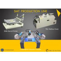 Cheap High precision 3040 Stencil Printer + CHMT48VB with vibration Feeder + T961 Reflow Oven SMT Line for sale