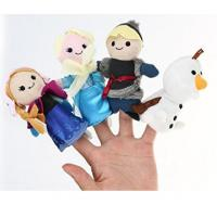 China Lovely Cartoon Plush Toys Frozen Soft Finger Puppets For Promotion Gifts And Premium on sale