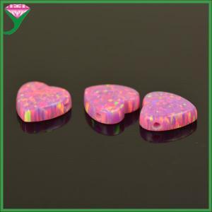 Best OP22 10mm pink heart opal synthetic opal for pendant wholesale