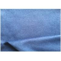 Cheap 26% Wool Stretch Fabric For Suit Coat , Blue Soft Wool Fabric In Stock for sale
