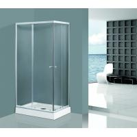 Best Sliding Clear Glass Shower Enclosures in Chrome Aluminum Rectangle Tempered wholesale