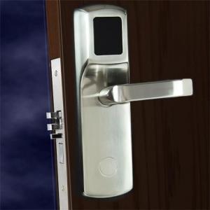Best FCC Hotel Electronic Door Locks , Electronic Front Door Lock Stainless Steel Material wholesale