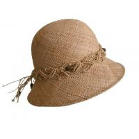 Best Custom Women Straw Hats With Crochet Trimming Band, Summer Fashion Straw Hats For Women wholesale