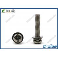 Best Stainless Steel SEMS Screws, Philips Slotted Pan Head, Split Lock Washer & Flat Washer wholesale