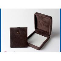 Best Personalized Jewelry Packaging Boxes For Small Brown veleting Earrings wholesale