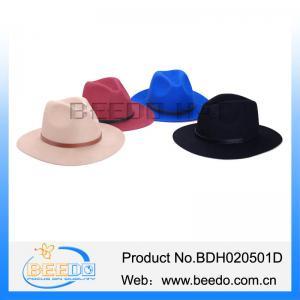 Best Handmade women wool felt hat wide brim mens fedora hats for women wholesale