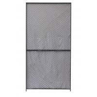 Best Security Woven Wire Mesh Partition Panels 10 Gauge Clinched 8 Feet High 5 Feet Width wholesale