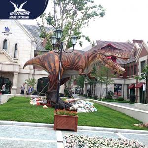 Vivid Life Size Realistic Dinosaur Models For Zoo Decoration Sunproof