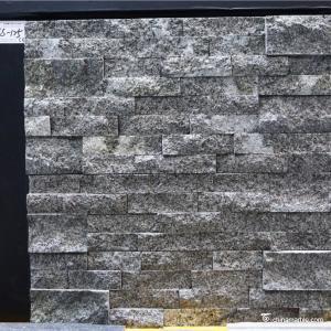 China Natural stone , Granite Stacked Stone , Grey Granite Stone Wall Rockface Cladding on sale