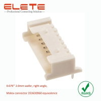 Best Wire to board connector, 2.0mm wafer, right angle, Molex connector 353630960 equivalence wholesale