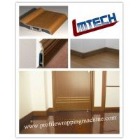 Best PVC and wood veneer profile laminating machine for door jamb and cabinet wholesale