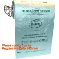 Best OEM/ODM Accepted Printed Compostable Die Cut Plastic Trash Bags EN13432 BPI OK Home ASTM D6400 Certified wholesale