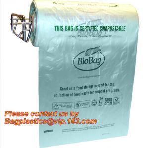OEM/ODM Accepted Printed Compostable Die Cut Plastic Trash Bags EN13432 BPI OK Home ASTM D6400 Certified