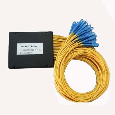 Quality ABS BOX FTTH Passive Fiber Optic PLC Splitter 1X16 SC SM 2.0mm High Stability for sale