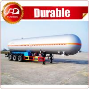 Best ASME standard Fudeng 52000 liters 3 axles lpg tank trailer price/ lpg gas tanker semi trailer for sale wholesale
