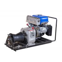 Best JJM1Q Line Construction 1 Ton Winch , Cable Pulling Gasoline Powered Winch wholesale