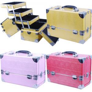 Best Multi Color Aluminium Makeup Case , Stylist Train Case Easy To Move wholesale