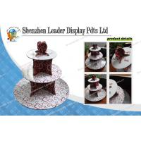 China Colorful Round POS 3 Tier Corrugated Cardboard Cupcake Stand for Wedding Cakes on sale