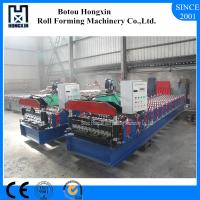 Best Aluminum Profile Corrugated Roof Sheeting Machine 760mm Cover Width wholesale