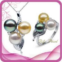 Best 18k Gold Akoya Pearl Jewelry Set (ST110854) wholesale