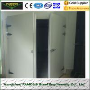 pu insulated hinged doors cold storage room