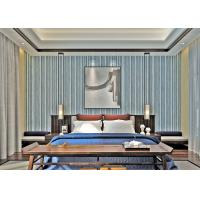 Best Custom Black And Grey Striped Wallpaper / Contemporary Vertical Striped Wallpaper wholesale