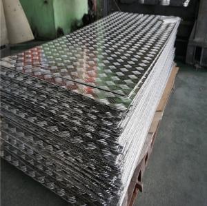 Best Aircraft Grade Aluminium Alloy Checker Plate Embossed Tread Sheet 1.0 - 5.0mm Thickness wholesale