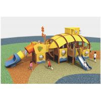 China wooden outdoor lowes playground equipment,Customize Durable Commercial Wooden Playground Equipment For 10 - 20 Persons on sale