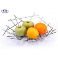 Irregularly Welded Modern Stainless Steel Fruit Bowl Kitchen Accessories
