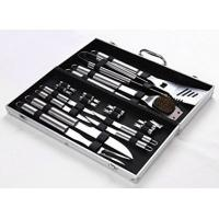 China 18 Pieces Stainless Steel BBQ Set with Aluminum Storage Case - Heavy Duty Professional Outdoor Barbecue Grill Tool on sale