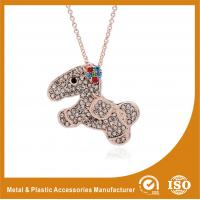 Best Crystal Dog Metal Chain Necklace , Long Silver Chain Necklace wholesale