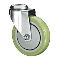 "Best 5""X1-1/4 Customized PU Caster Wheel With Swivel Kingpin Fitting wholesale"