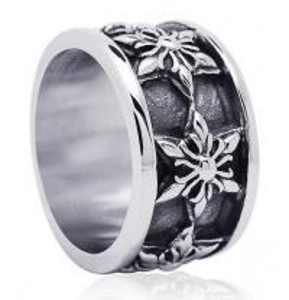 Best Retro fashion jewelry hexagram right Zhi-long titanium steel men