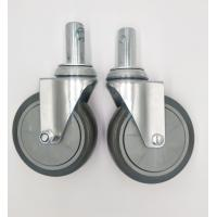 Best Carts 5 Inch Caster Wheels , Shelf Metal Food Service Equipment Casters wholesale