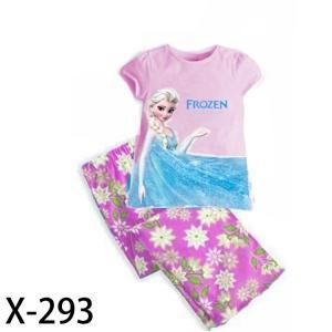 China Pink Frozen girl summer pajamas on sale
