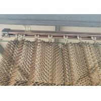 Best Copper Colored Stainless Steel Wire Mesh Flat Silk Spiral Decoration Net wholesale