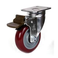 Cheap 100mm PU caster for sale