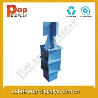 China Blue Biscuit Foldable Cardboard Display Stands For Supermarket wholesale