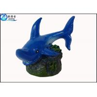 Best Blue Little Shark Personalised Large Fish Tank Ornaments Decorations with Polyresin wholesale