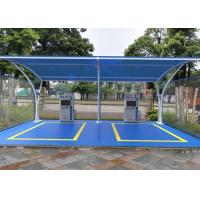 Best Lightweight Tensile Membrane Structures Metal Frame Car Park Canopy For Wash wholesale